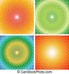 illusion-vector, látási, eps, cyclic