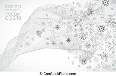 illustrat, vektor, tél, háttér