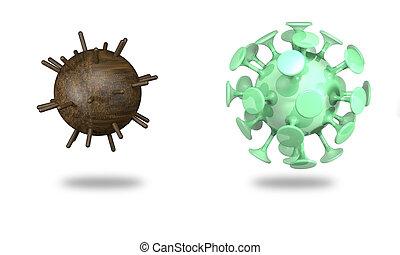 illustration)., akna, (3d, coronavirus
