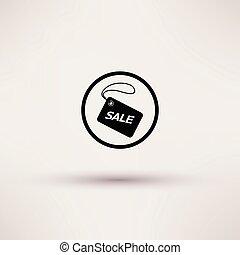 illustration., címke, elszigetelt, kiárusítás, vektor, ikon