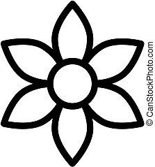 illustration., icon., vektor, virág, áttekintés