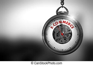 illustration., szüret, clock., zseb, e-commerce, 3