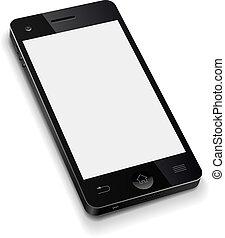 illustration., telefon, mozgatható, ellenző, gyakorlatias, vektor, sablon, tiszta, fehér, 3