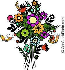 illustration., természet, eredet, vektor, menstruáció, butterfly.