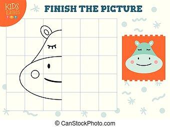 illustration., vektor, befejez, másol, tiszta, játék, film