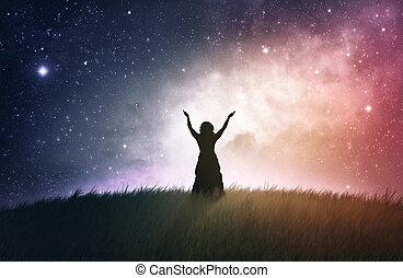 imádás, éjszaka