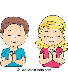 imádkozás, gyerekek