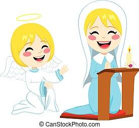 imádkozás, mária, boldog