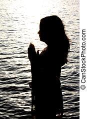 imádkozás, sparkles.