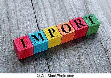 import, fogalom
