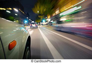 indítvány, autó, elhomályosít