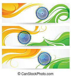 india, háromszínű, transzparens