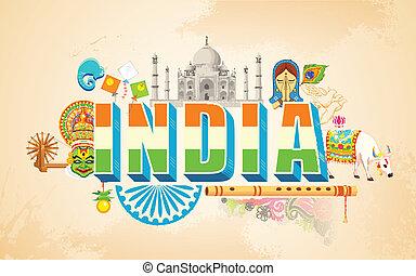india, háttér