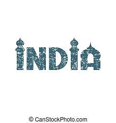 india., lettering., kéz