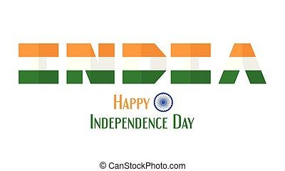 indiai, wheel., ország, emberek, india, elszigetelt, ábra, nap, háttér., vektor, tervezés, fehér, ashoka, szabadság, boldog