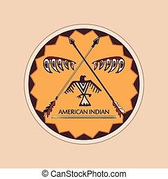 indian american, emblémák, elnevezés
