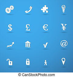 infographic, állhatatos, ügy icons
