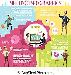 infographic, állhatatos, gyűlés, ügy