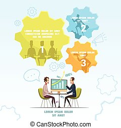 infographic, állhatatos, gyűlés