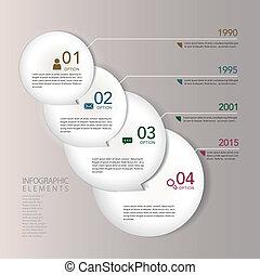 infographic, alapismeretek, elvont, modern, dolgozat, karika