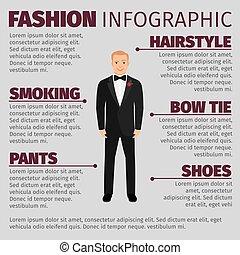 infographic, illeszt, mód, ember, esküvő