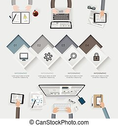 infographic, illustration., ügy, set., vektor, sablon
