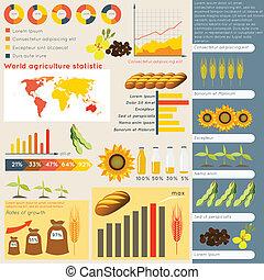 infographic, mezőgazdaság, alapismeretek