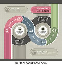 infographic, modern, sablon