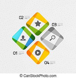 infographic, modern, színes, geometrikus