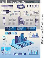 infographic, sablon, bemutatás