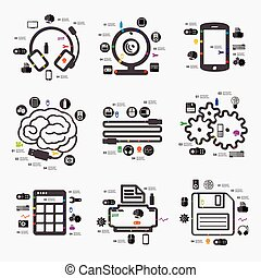 infographic, technológia