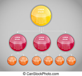 infographic, vektor, ügy, sablon, ábra