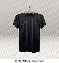 ing, fekete, ruhacsipesz, elszigetelt, ikon