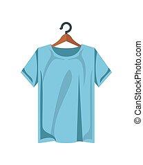 ing, gyapot, kék, öltözék, szín, ruhacsipesz