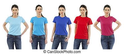 ing, nő, színezett, különböző, fárasztó, tiszta