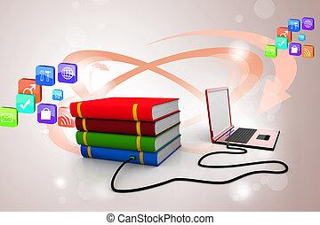 internet, könyvtár