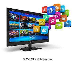 internet, televízió, fogalom