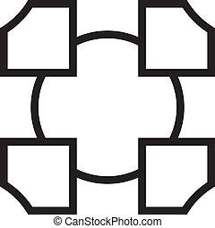 intersected, háttér, blokkok, elvont, elem, 4, transzparens, karika
