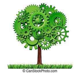 iparág, fa, ügy, siker
