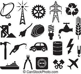 iparág, gyűjtés, ikonok