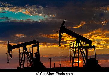 iparág, olaj, equipment., pumps.