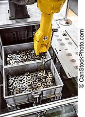 ipari, modern, kar, robotic, technology.