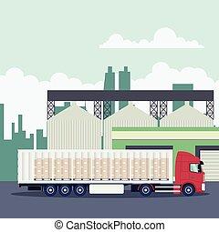 ipari szállít, konténer, logisztika, csereüzlet