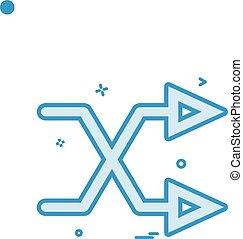 irány jó, két, vektor, tervezés, nyíl, keresztező, ikon
