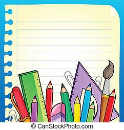 irodaszer, 2, notepad, oldal, tiszta