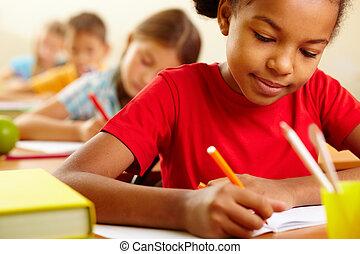 iskolás gyerek, rajz