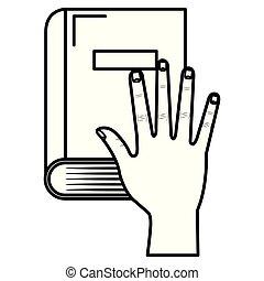 iskoláskönyv, kéz