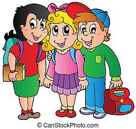 iskola ugrat, három, boldog