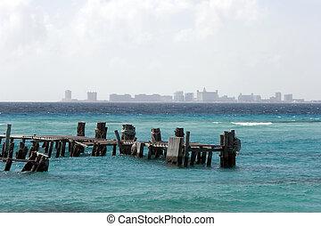 isla, dock., mujeres
