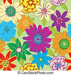 ismétlő, virág, színes, seamless, háttér